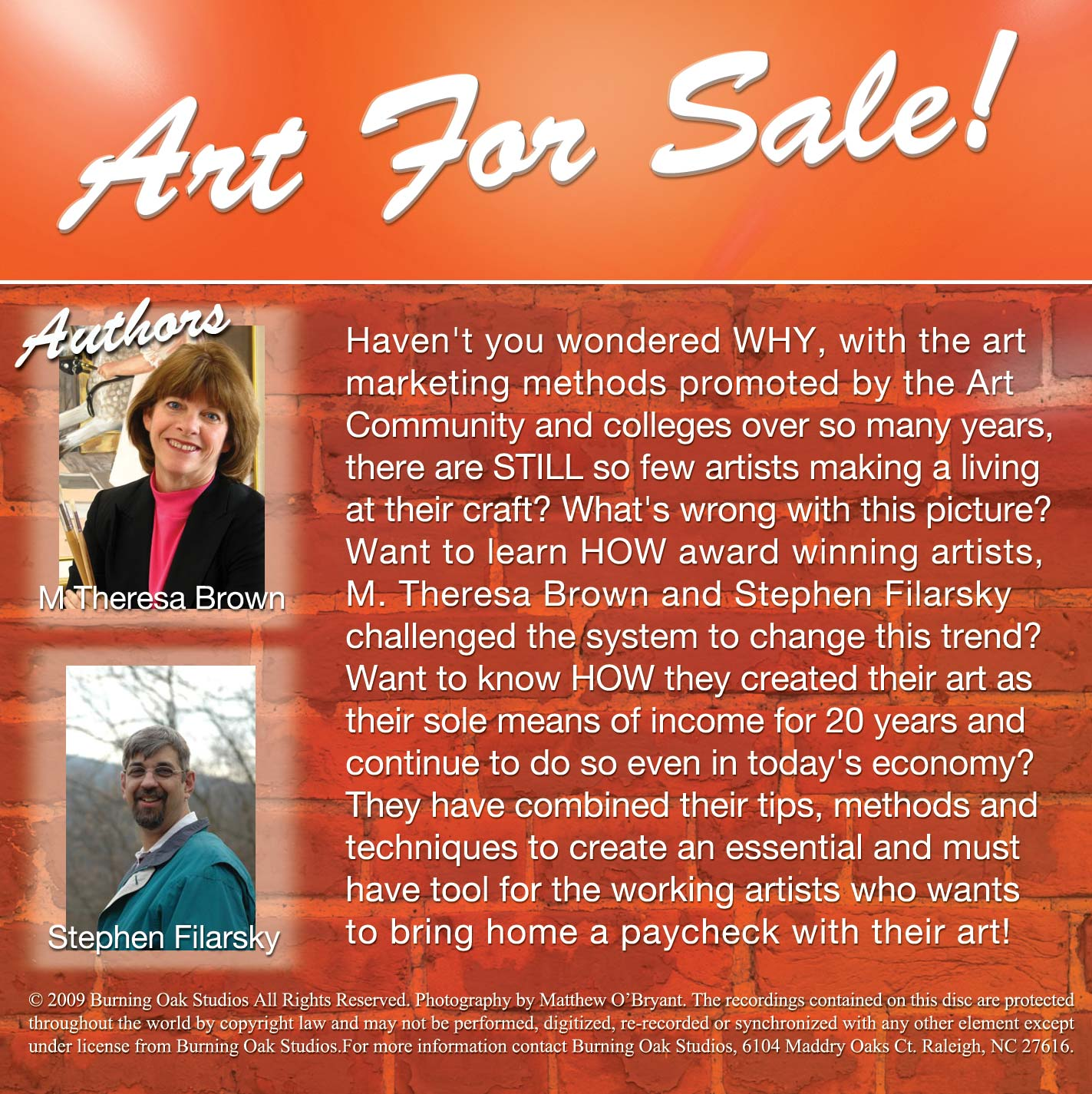 Art for Sale Audio CD Back Panel image