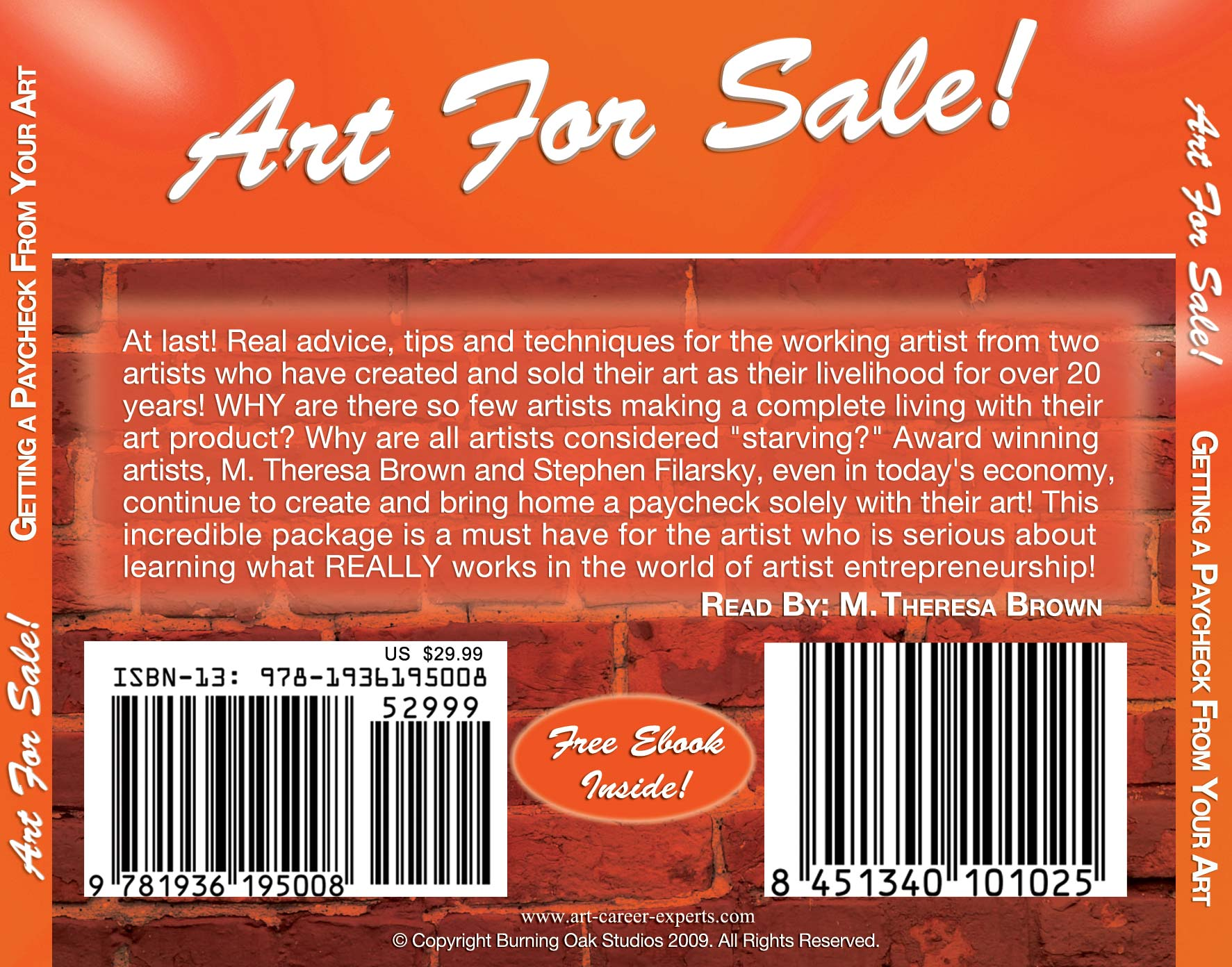 Art for Sale Audio CD Back image